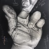 """Fingers Crossed With Comments"" (charcoal and graphite on paper) by Christian Gerstheimer"
