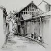 """""""Childhood alleys"""" (oil on linen) by Yan Zi"""