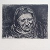 """mountain woman"" (etching) by Galina Alilova"