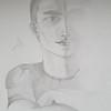 """""""Another guy"""" (graphite) by Evgeniya Yarovaya"""
