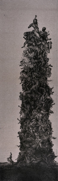 """Soul tower"" (dry ink) by Jianfeng Chen"