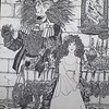 """""""Beauty and the Beast Quarantined on Broadway"""" (pen and ink) by Rebecca Koepke"""