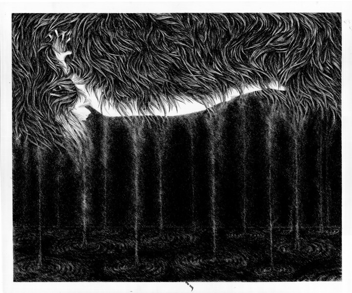 """""""Bound"""" (pen and ink on paper) by Daria Chebotova"""