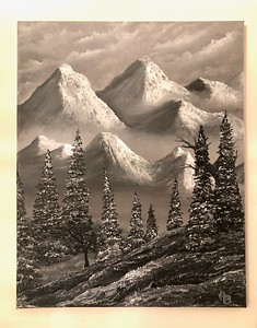 """""""Snowy Days"""" (oil) by Ashley Boggs"""