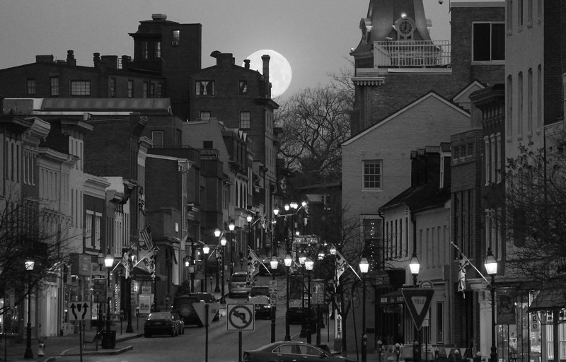 Moon Setting over Annapolis