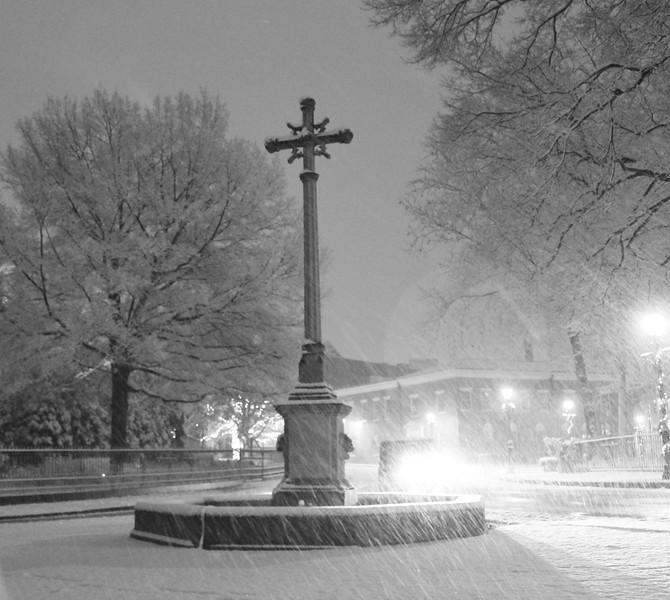 Church Circle in the snow
