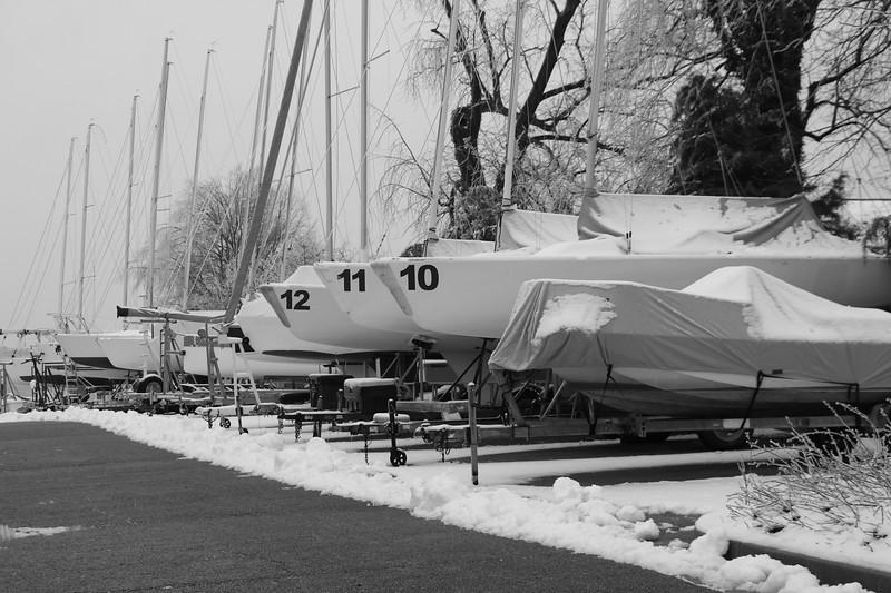 Eastport Yacht Club in the Snow