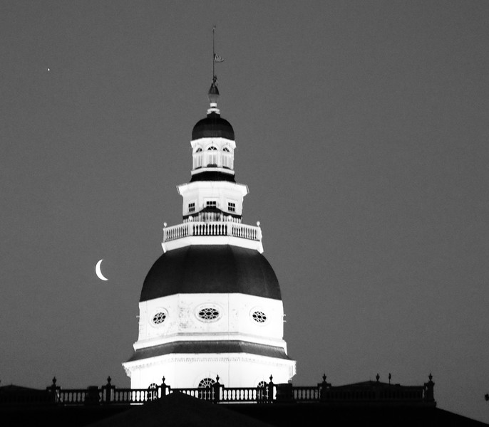Crescent Moon over the Capitol