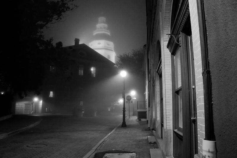 Foggy Street Lamps