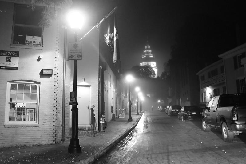Lone Wanderer in the Fog