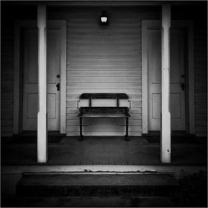 Porch Light and Bench