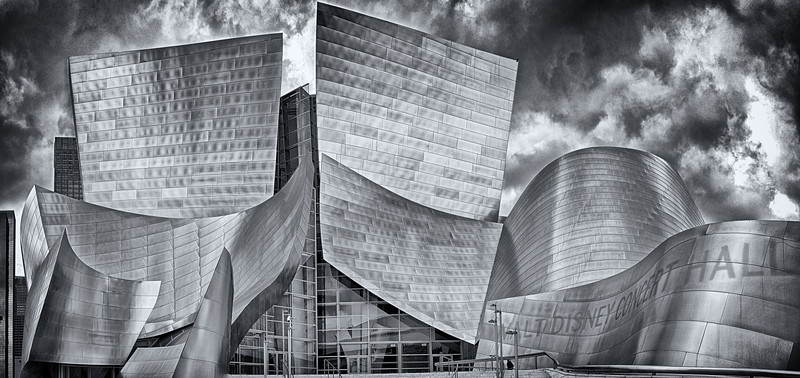 Walt Disney Concert Hall Pano B & W
