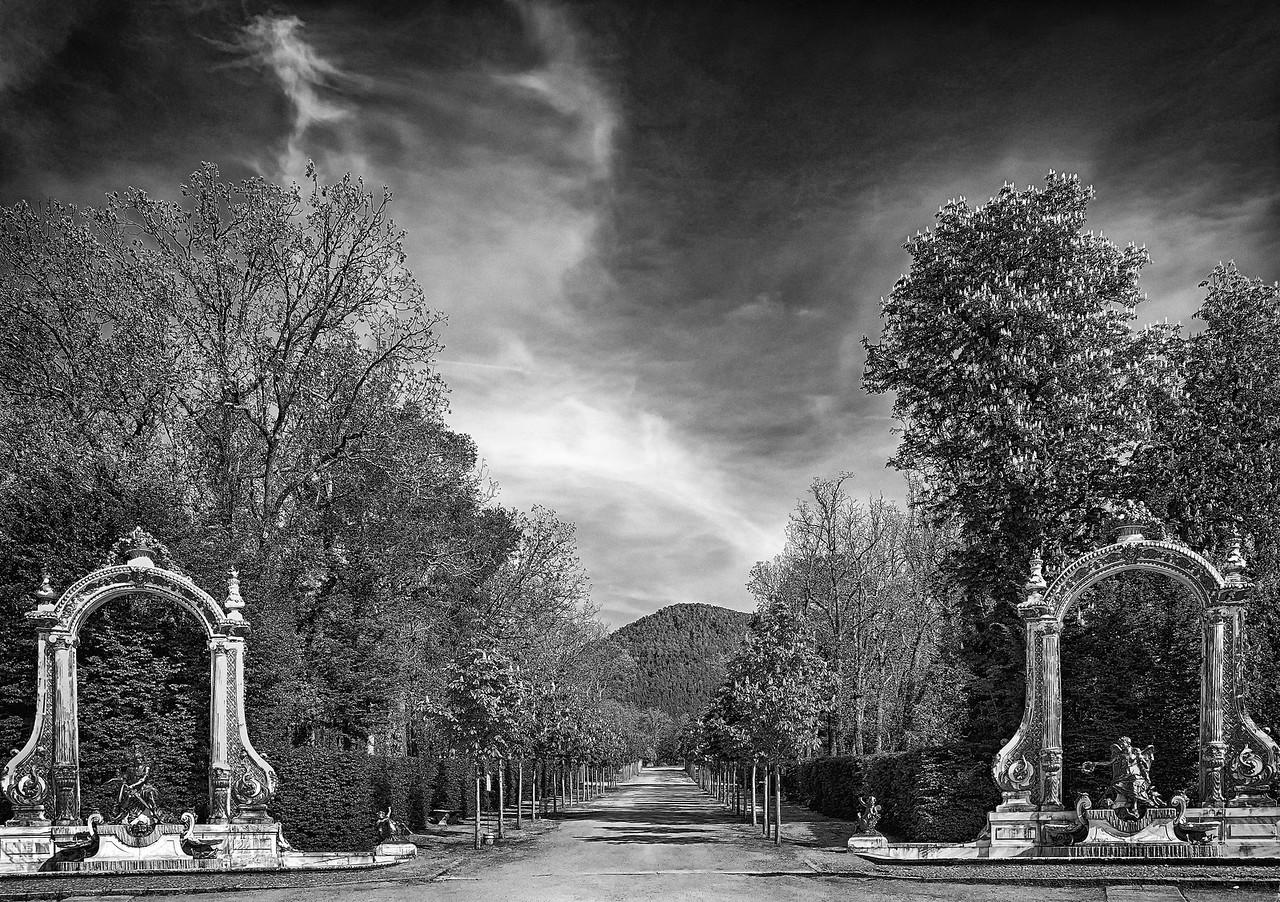Segovia Royal Gardens B & W