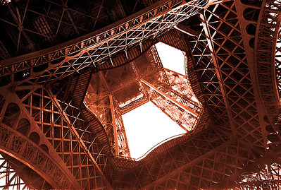 Eiffel Looking Up.