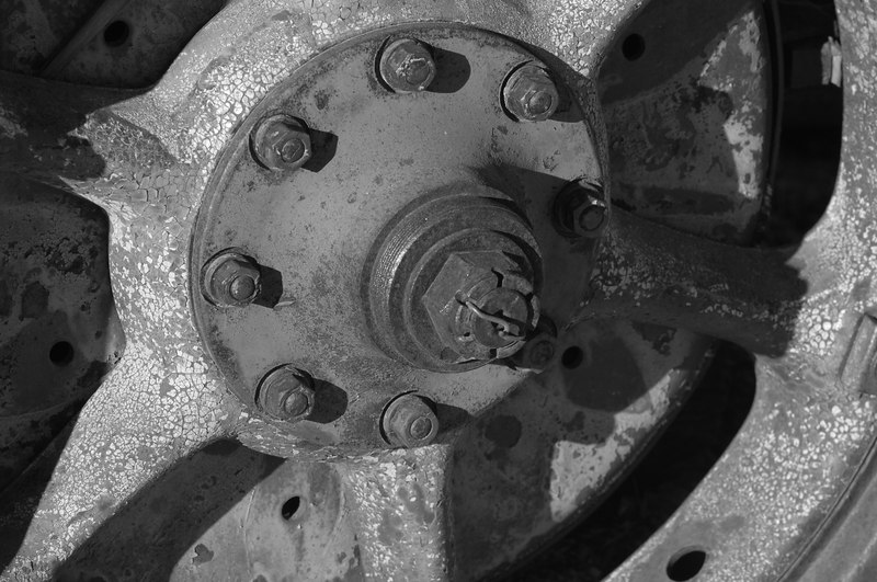 Wheel of Truck near Desert Queen Well