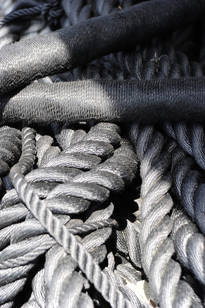 Rope outside rigging shed. Salem, MA