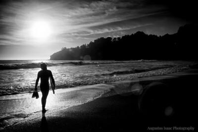 Surf's Last Ride B&W