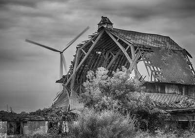 Fallen Barn and Wind Generator