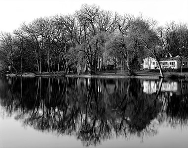 Reflections along the Grand River in Eaton Rapids, Michigan