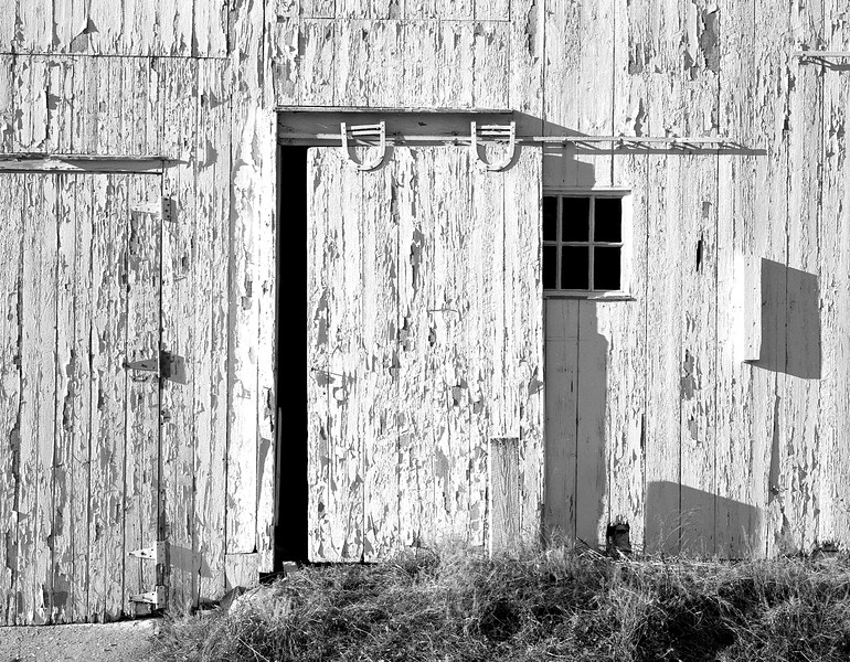 white barn detail
