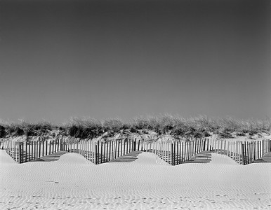 Beach Fences and Sky