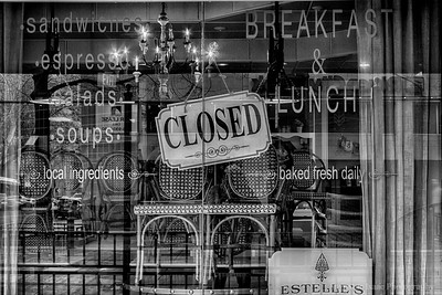 Bakery Reflections B&W