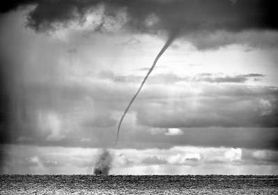 Waterspout off SandPoint, Michigan