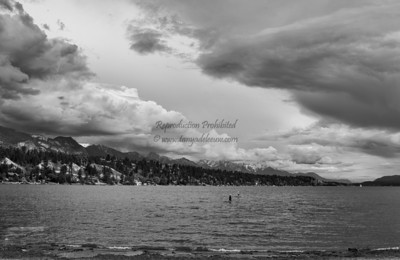 Spring storms over the ranges. Lake Windermere, BC. May 2013