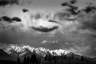 More dramatic spring skies over Windermere, BC. April 2013