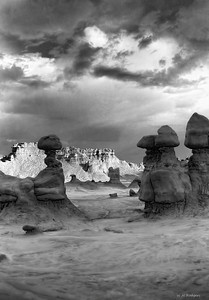 Storm Over Goblin Valley, Utah