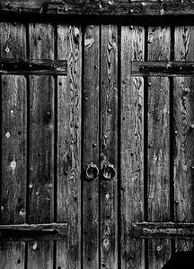 Wood Door BW