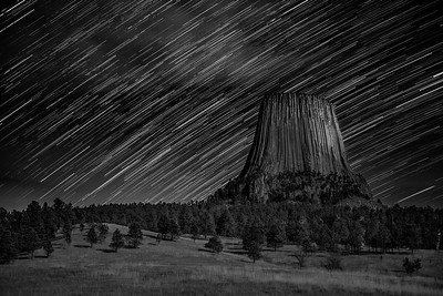 Stars over Devils Tower