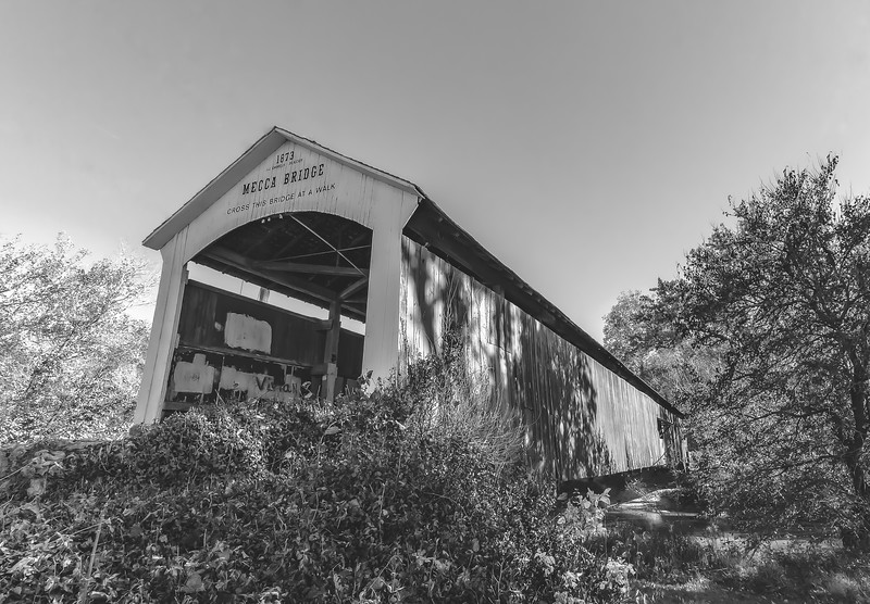 Mecca Covered Bridge in Parke County Indiana