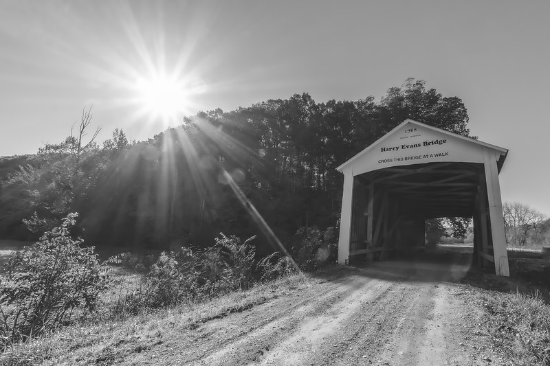 Harry Evans Covered Bridge in Parke County Indiana