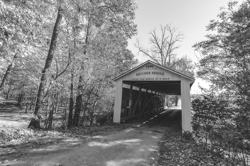 Melcher Covered Bridge in Parke County Indiana