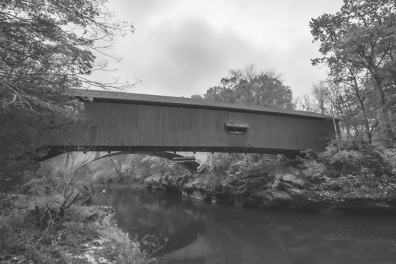 Narrows Covered Bridge in Parke County Indiana