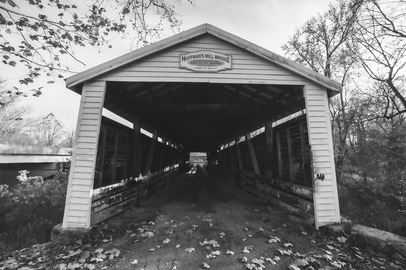 Huffman Mill Covered Bridge in Perry County and Spencer County Indiana