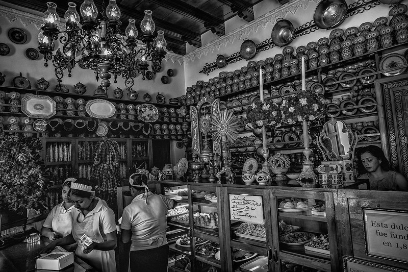 Sweet old times. Doña Maria Gordillo, traditional candy shop in Antigua Guatemala, founded in 1872. Spanish colonial culinary tradition from the eighteenth century.
