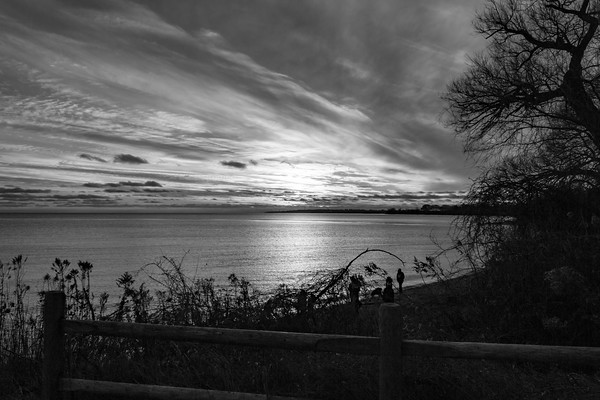 First Sunset of 2019 in Ajax Ontario-B&W