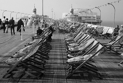 North Pier Promenade, Blackpool. Lancashire, England