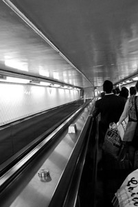 Subway Escalator, NYC