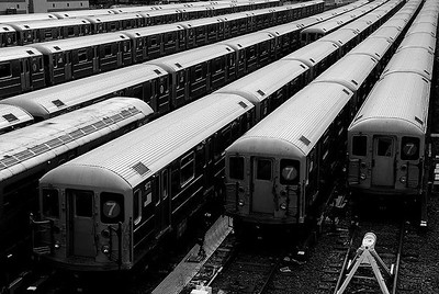 The '7's' Subway Trains, NYC