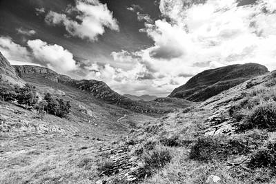 View into a glen near Shieldaig
