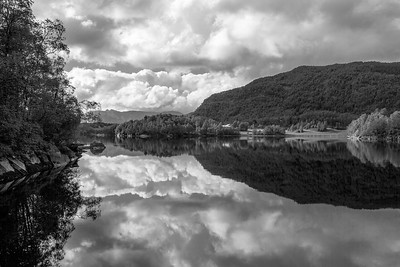 Reflections at the fjord