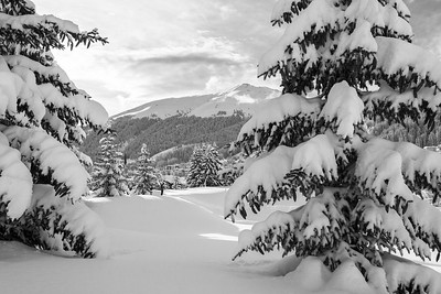 Davos during winter, Switzerland, EU