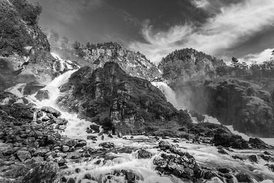 Waterfall Låtefossen