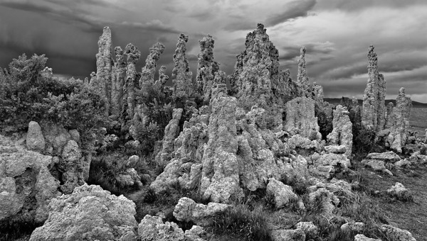 Tufa Storm Mono Lake, Owen's Valley, California