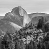 Half Dome from Olmsted Point, Mariposa County, CA, looking approximately southwest