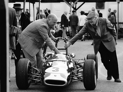 A push in the Paddock - Goodwood Revival 2015
