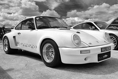 Porsche Carrera amongst Porsches - Silverstone Classic 2016